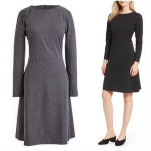 J. Crew 365 Knit Fit & Flare Dress in Charcoal